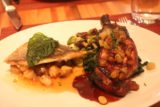 Las_Vegas_17_019_04212017 - Our split dish of sea bass and pork chop at Wolfgang Puck's