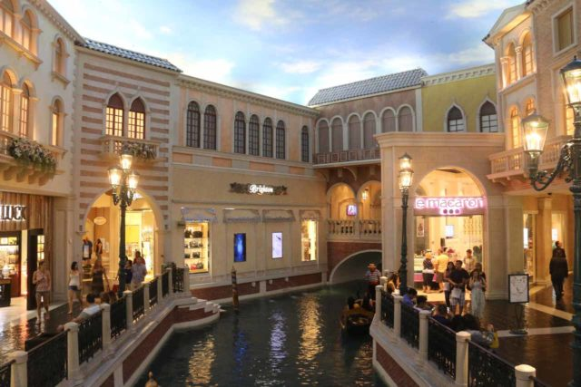Las_Vegas_17_185_04222017 - Of the casinos on the Las Vegas Strip, perhaps Julie and I were most nostalgic when it came to the Venetian because its re-creation of the Grand Canals in perpetual twilight reminded us of Venice