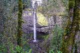 Latourell_Falls_055_04062021 - Continuing beyond the first lookout, which starts to show the Latourell Falls in unusual angles