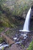Latourell_Falls_135_04062021 - Another look back at Upper Latourell Falls with footbridge in long exposure