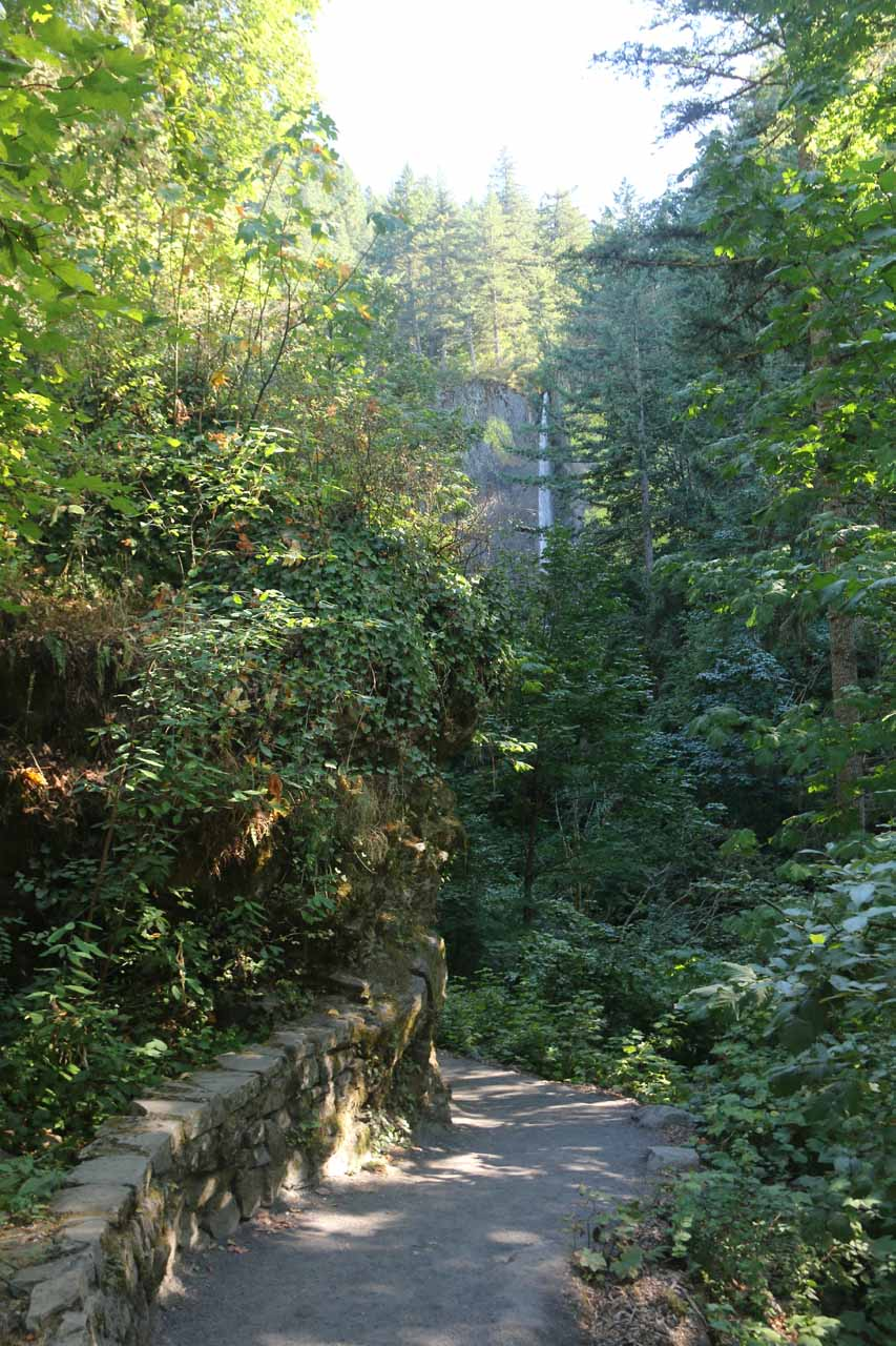 On the path leading to the base of Latourell Falls