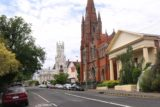 Launceston_17_030_11232017 - Looking towards a pair of classic looking towers and church facades near the Launceston CBD