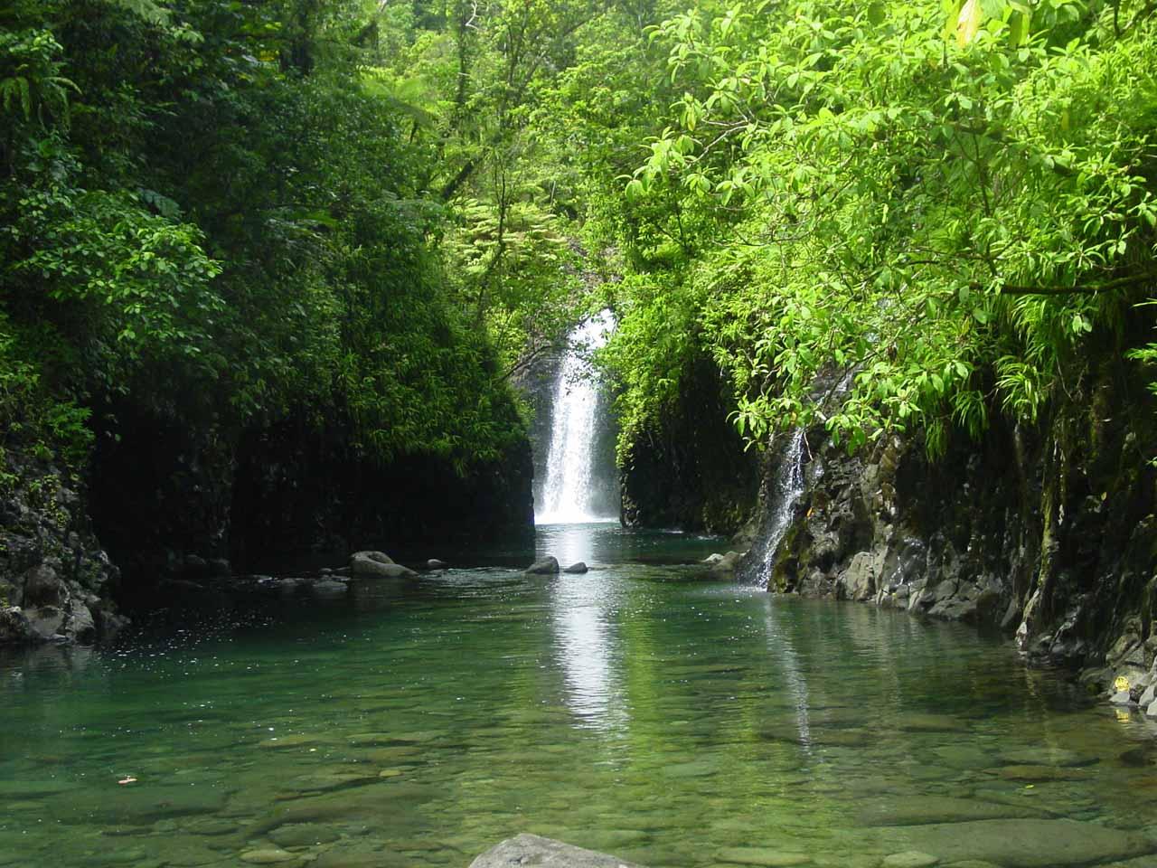 Wainibau Falls at the end of the Lavena Coastal Walk