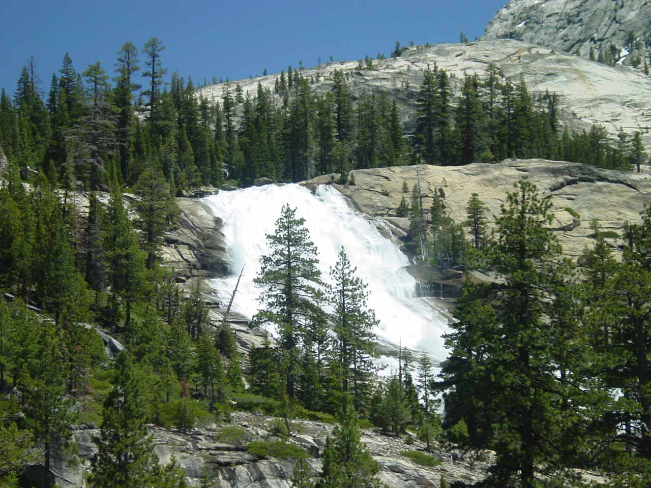 More direct view of LeConte Falls showing its width