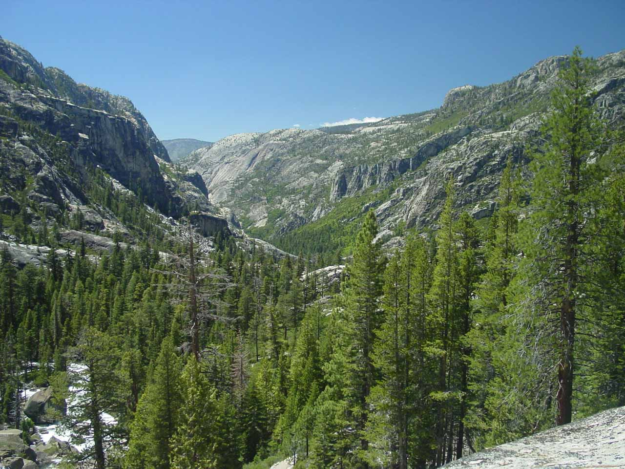 Looking downstream towards the Grand Canyon of the Tuolumne River