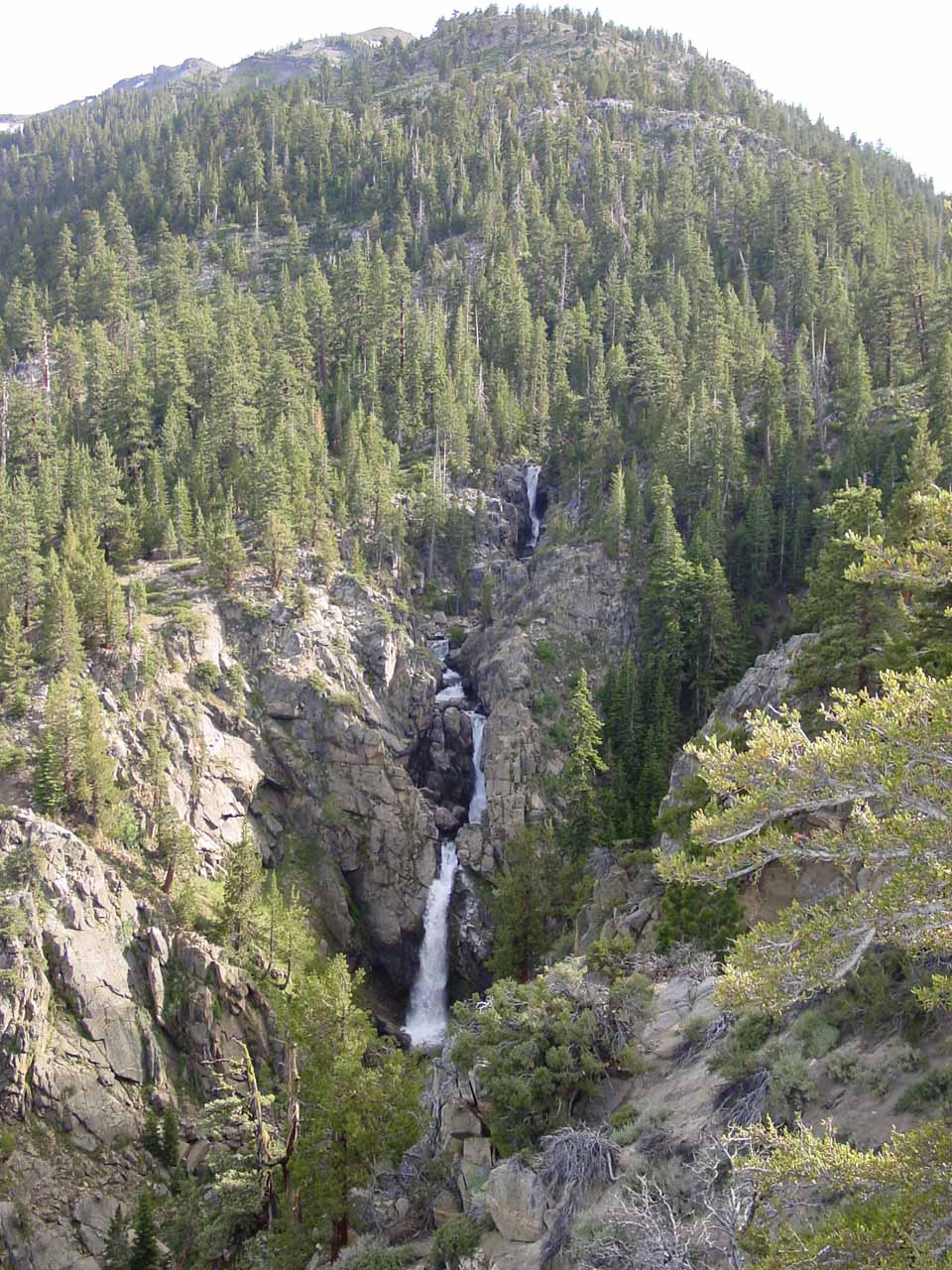 The full context of Leavitt Falls from the falls overlook