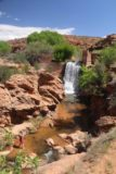Left_Hand_010_04202017 - The context of the artificial waterfall that was literally a couple of minutes from the trailhead of Mill Creek in Moab