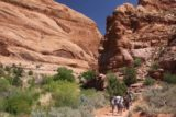 Left_Hand_029_04202017 - Passed by a large caravan of young hikers while on the Mill Creek Trail in Moab