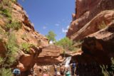 Left_Hand_075_04202017 - Lots of people enjoying Mill Creek Falls in Moab