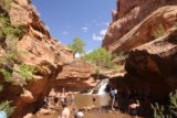 Left_Hand_078_04202017 - Lots of people enjoying Mill Creek Falls in Moab