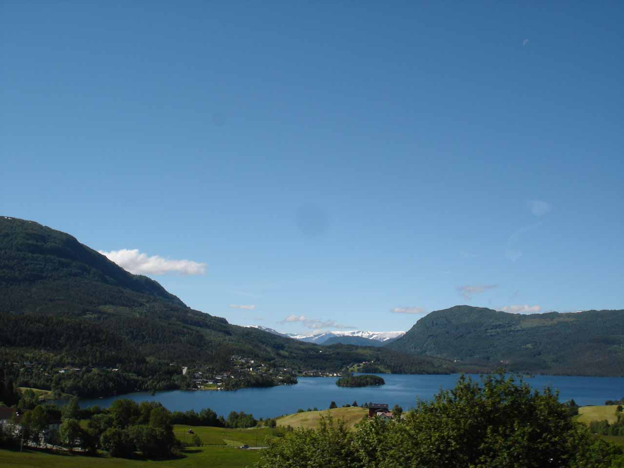 View of part of Sognefjorden from around the town of Leikanger