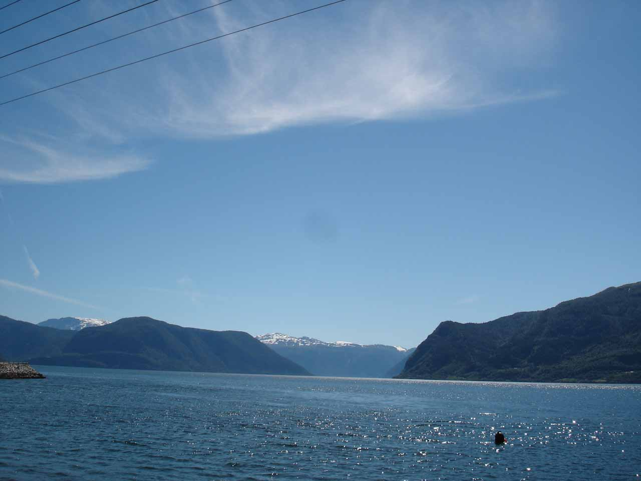 Another view out towards the wide open Sognefjorden along Rv55