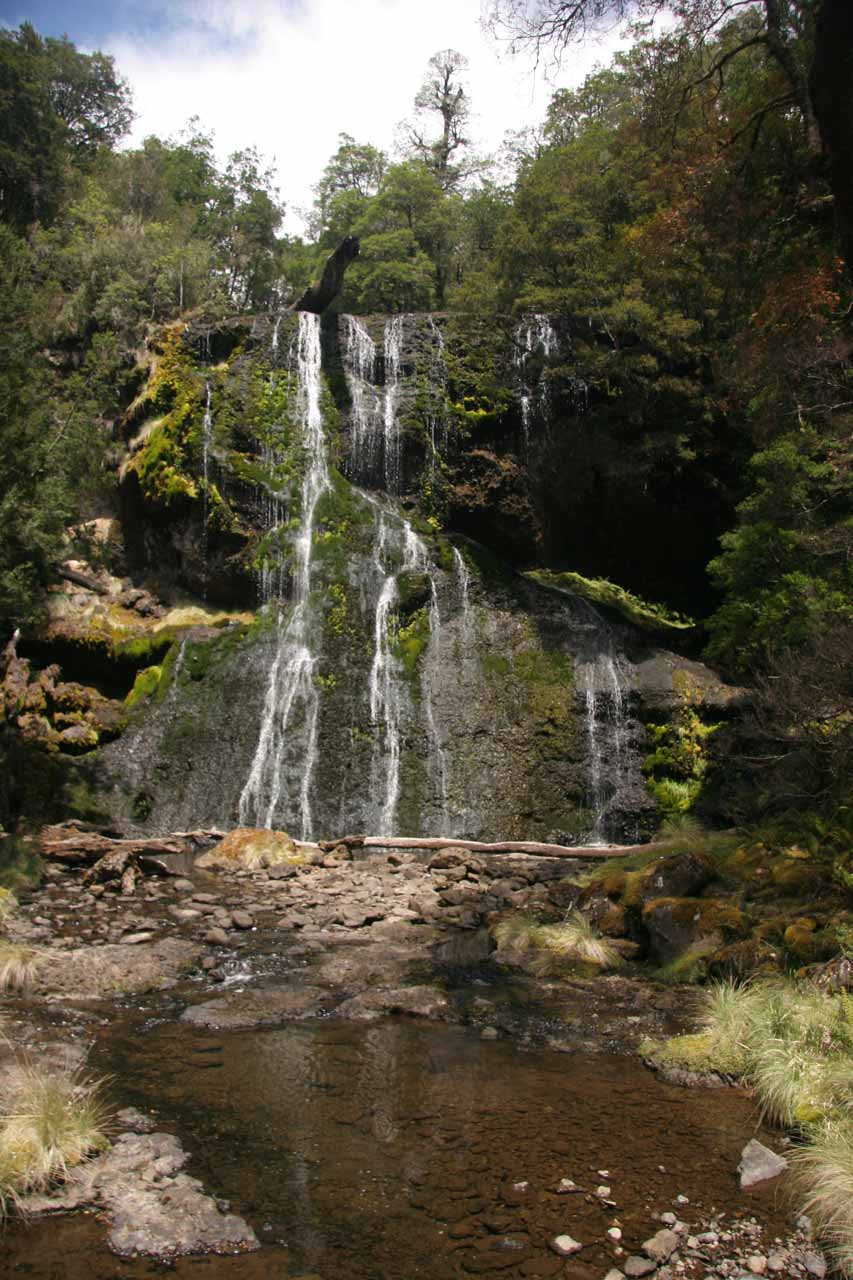 Our first look at the Bridal Veil Falls