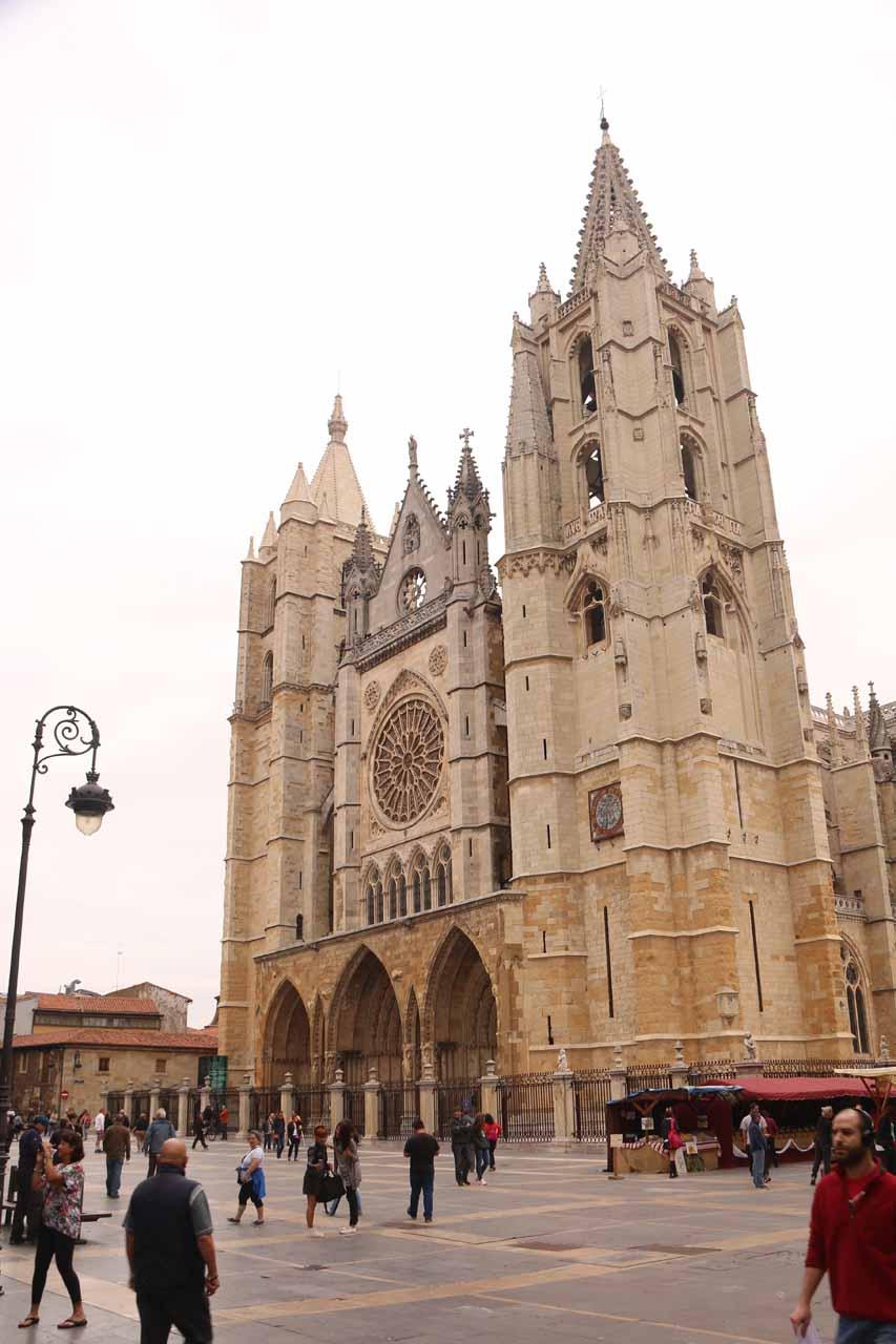 Looking towards the Catedral de Santa Maria in Leon
