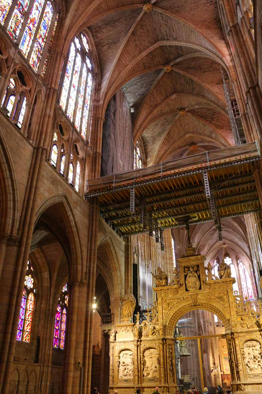 Inside the plethora of stained-glass windows of the Catedral de Santa Maria in Leon