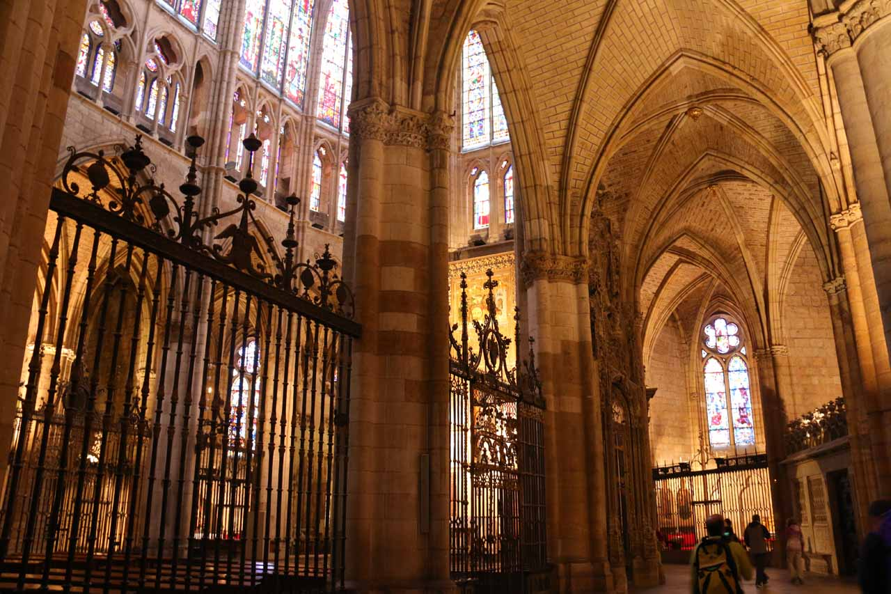 Checking out other parts of the Catedral in Leon besides the main altar