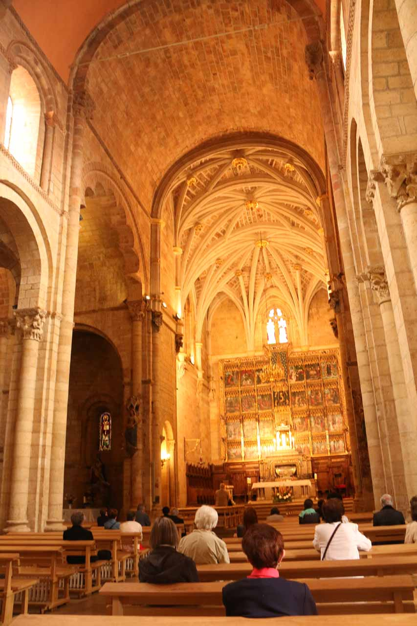 Inside the ceremonial part of the Basilica de San Isidro in Leon