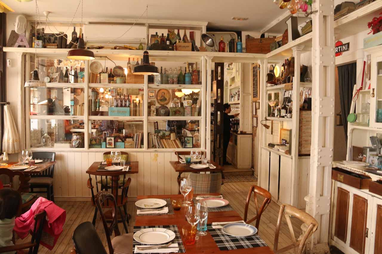 Checking out the elaborate interior of the Restaurante La Trastienda in Leon