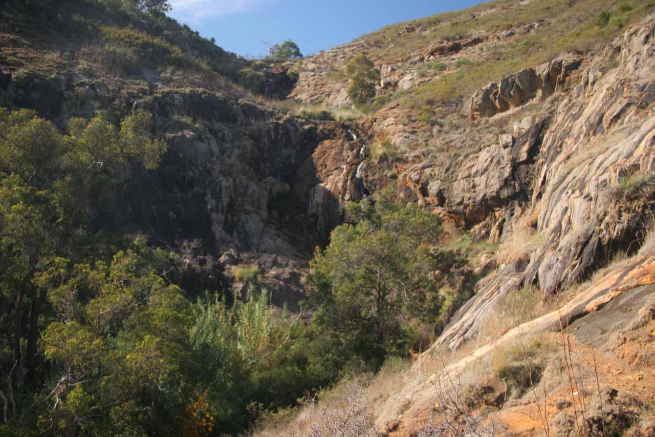 Lesmurdie Falls in low flow