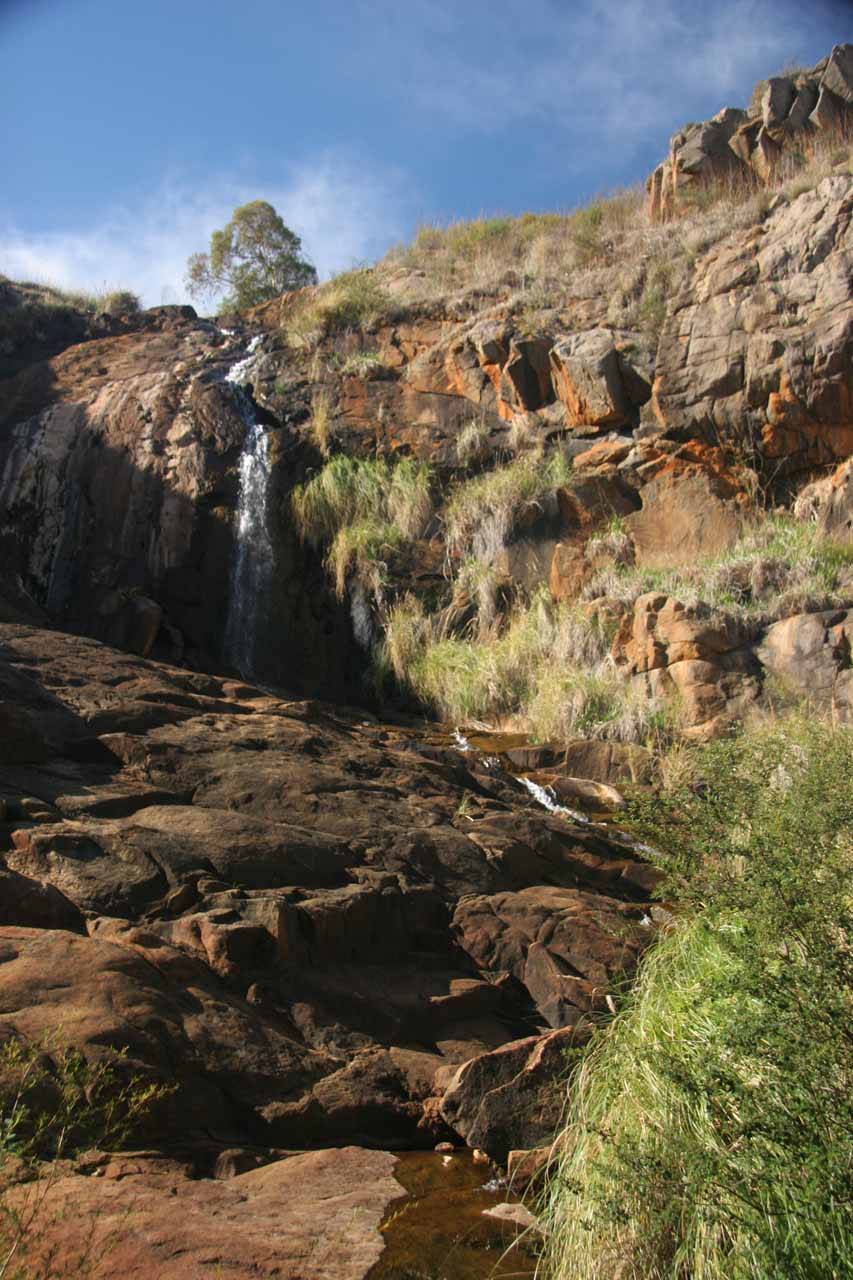 Closer look at the most substantial part of Lesmurdie Falls