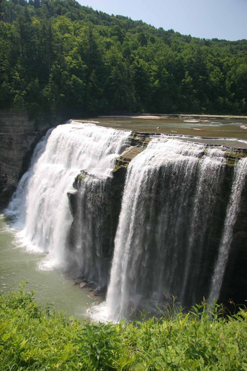 Angled view of the Middle Falls