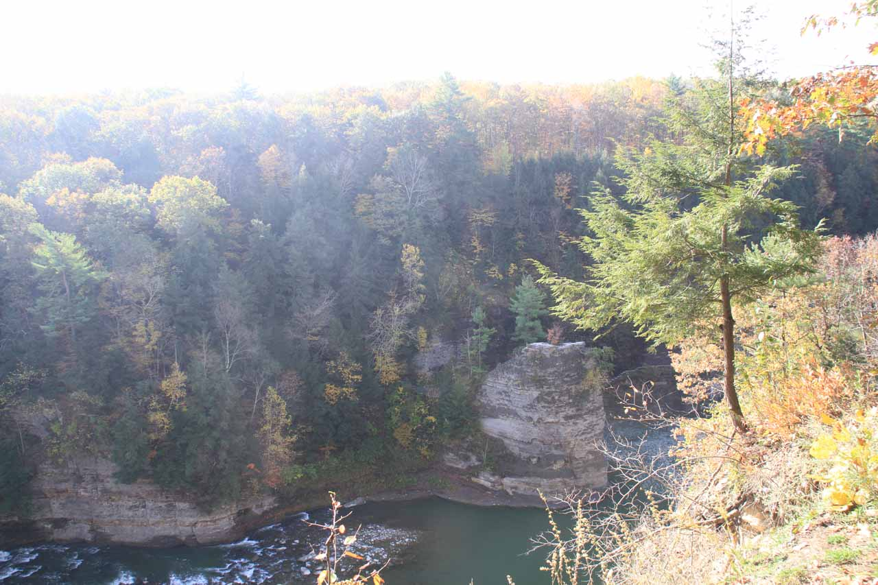 Our first glimpse of the gorge carved out by the Genesee River