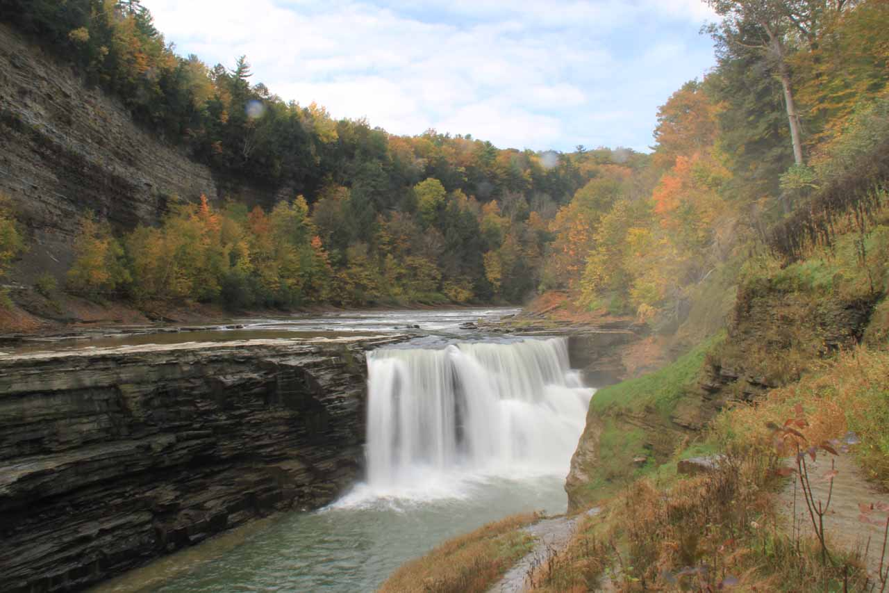Approaching the Lower Falls of the Genesee River in Letchworth State Park