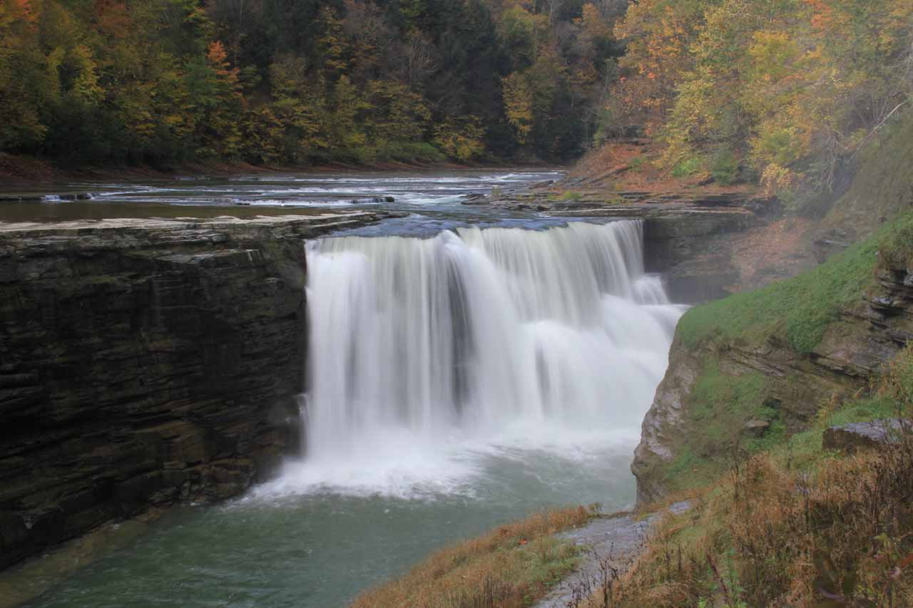 Autumn at the Lower Falls of the Genesee River in Letchworth State Park