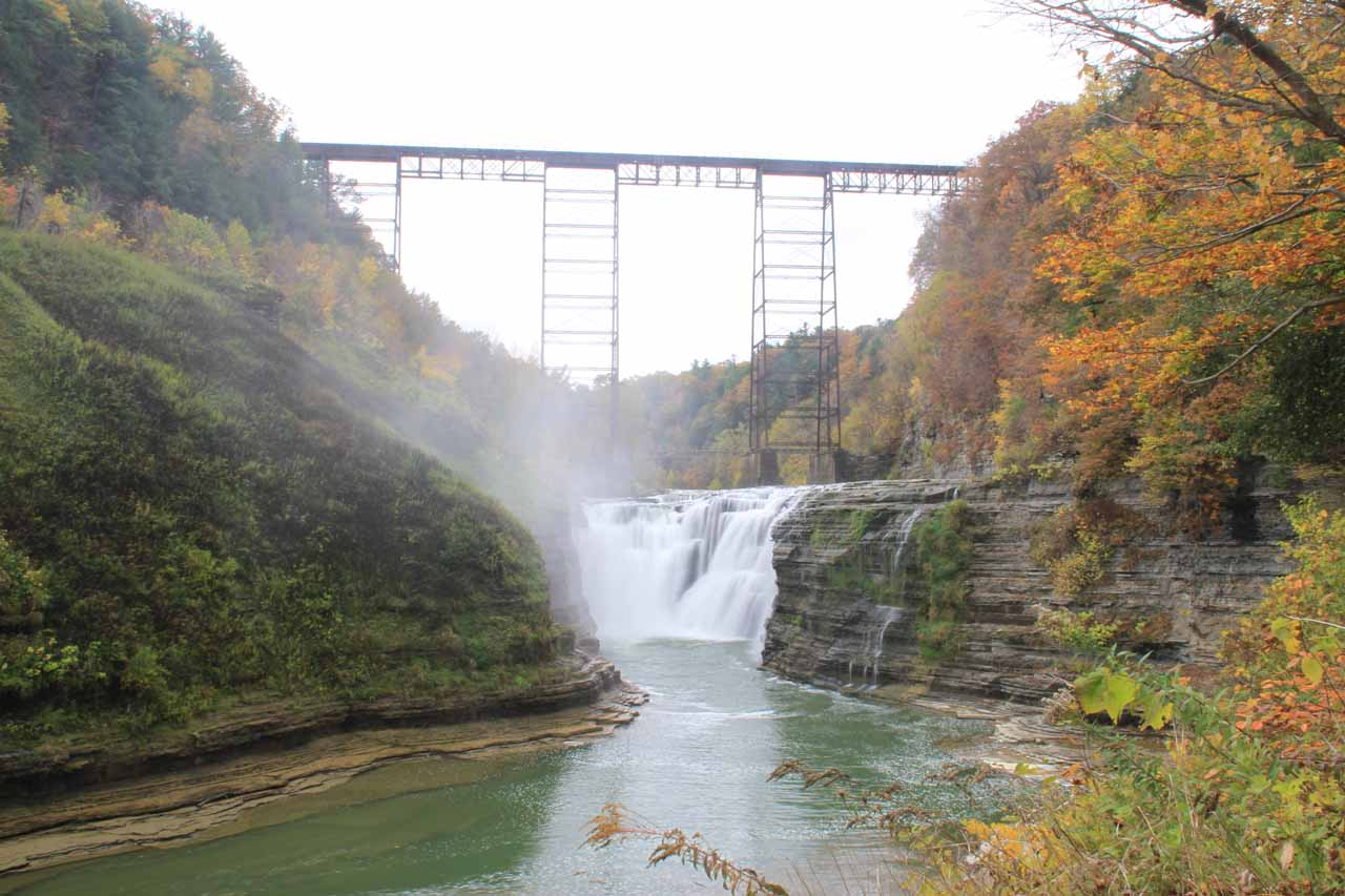 The Upper Falls of the Genesee River in Letchworth State Park