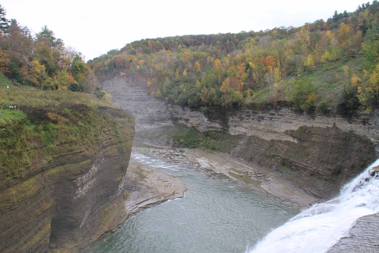 Looking over the brink of the Middle Falls