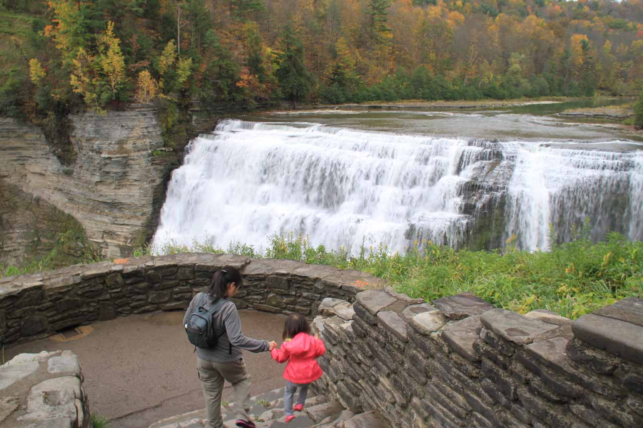 Another place where we made a re-visit for the benefit of enjoying it as a family was the Middle Falls of the Genesee River in Western New York