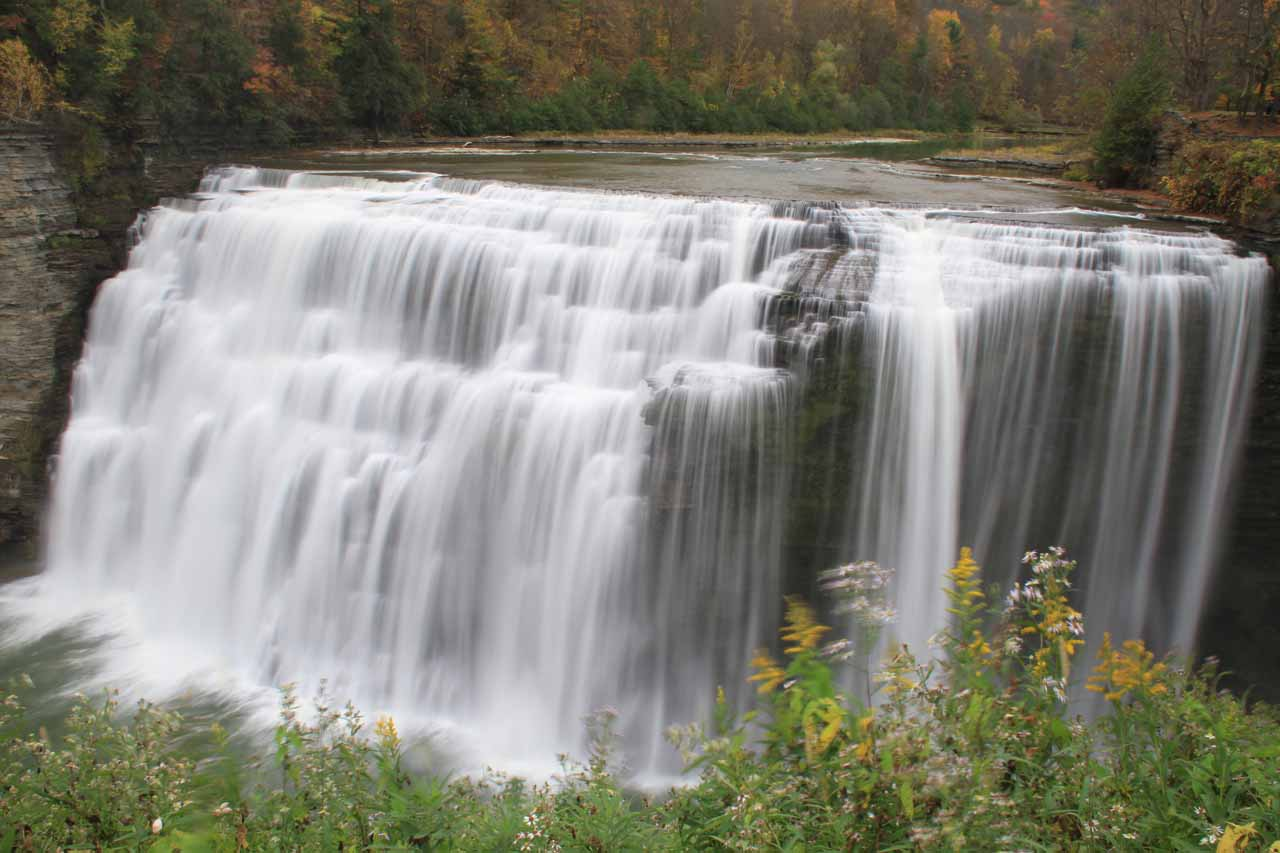 The same view of the Middle Falls of the Genesee River in Letchworth State Park as above except this was during the Autumn of 2013