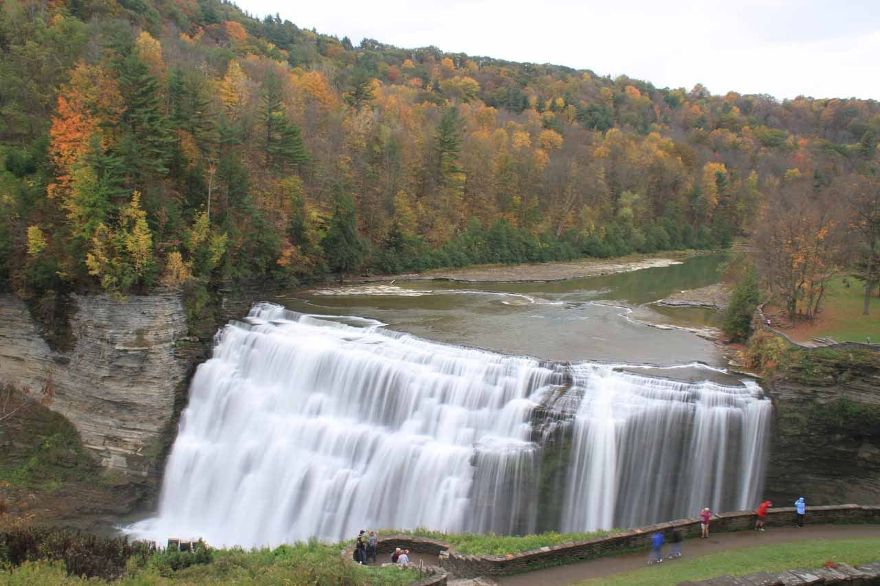 4. MIDDLE FALLS OF THE GENESEE RIVER [Letchworth State Park, New York, USA]