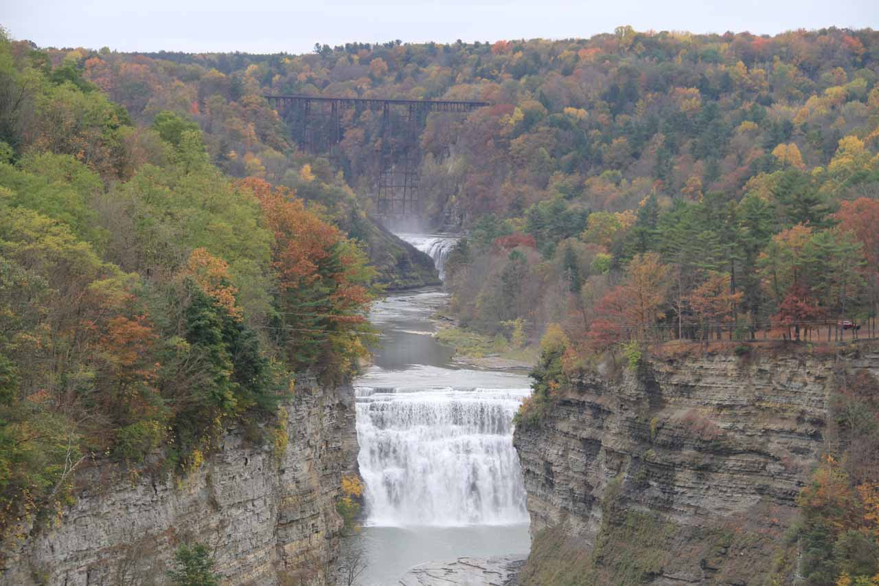 Upper and Middle Falls of the Genessee River in Letchworth State Park