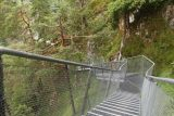 Leutaschklamm_131_06272018 - Descending these mesh steps towards the Wendelspitze bridge traversing the span of the Leutaschklamm Gorge