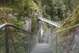Leutaschklamm_134_06272018 - Dramatically descending on the catwalks towards the Wendelspitze bridge spanning the Leutaschklamm Gorge