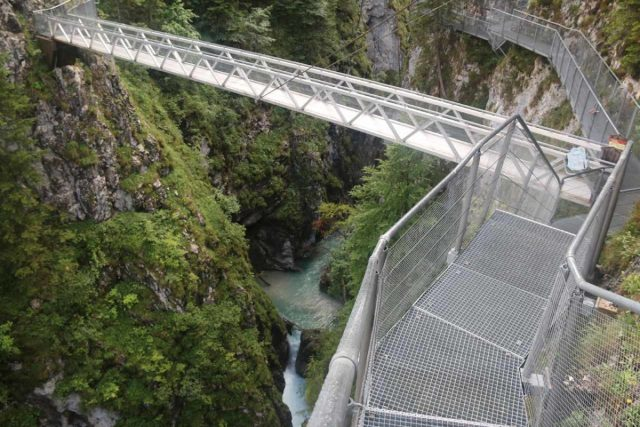 Leutaschklamm_139_06272018 - Looking down into the Leutaschklamm Gorge from the bridge traversing its span along the so-called Goblin Trail