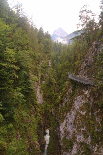 Leutaschklamm_165_06272018 - The Leutaschklamm Gorge with the context of more waterfalls and cliff-hanging catwalks looking towards the Austria end of the gorge