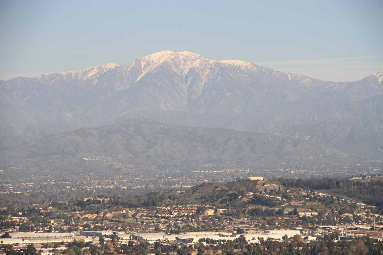 You can kind of tell if waterfalling the San Gabriel and San Bernardino Mountains would be good just based on checking if there's snow on the mountains looking to the northeast of the LA Basin