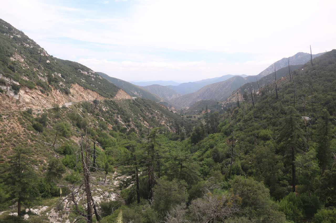 Looking down into the San Gabriel Canyon on the way back from Crystal Lake