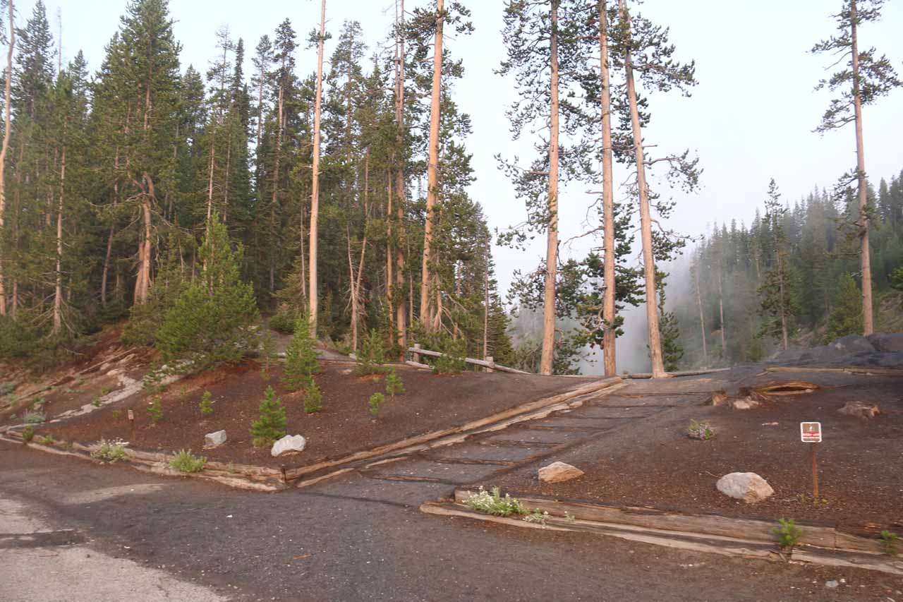 Then, in our most recent visit in 2017, the park service appeared to have improved the trail and viewing area