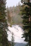 Lewis_Falls_Yellowstone_016_08112017 - Looking between some trees towards this closer view of Lewis Falls on our August 2017 visit