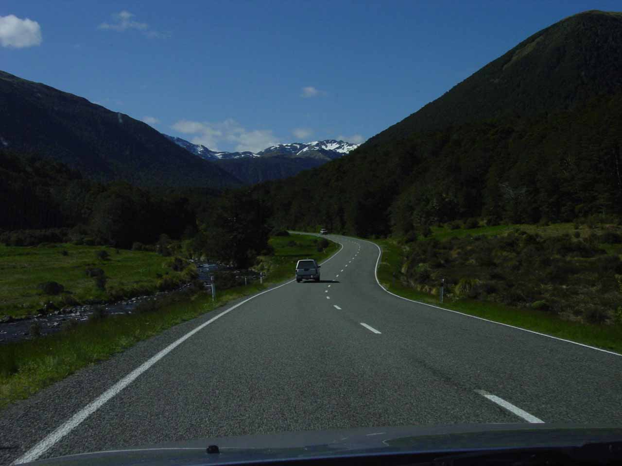 Here was where the Lewis Pass Highway started to get more mountainous as we were getting closer to Springs Junction