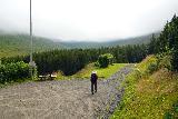 Leyningsfoss_022_08142021 - Mom getting started on the hike to Leyningsfoss on the Skógarstígur
