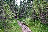 Leyningsfoss_044_08142021 - Mom continuing on the Fossstígur en route to Leyningsfoss