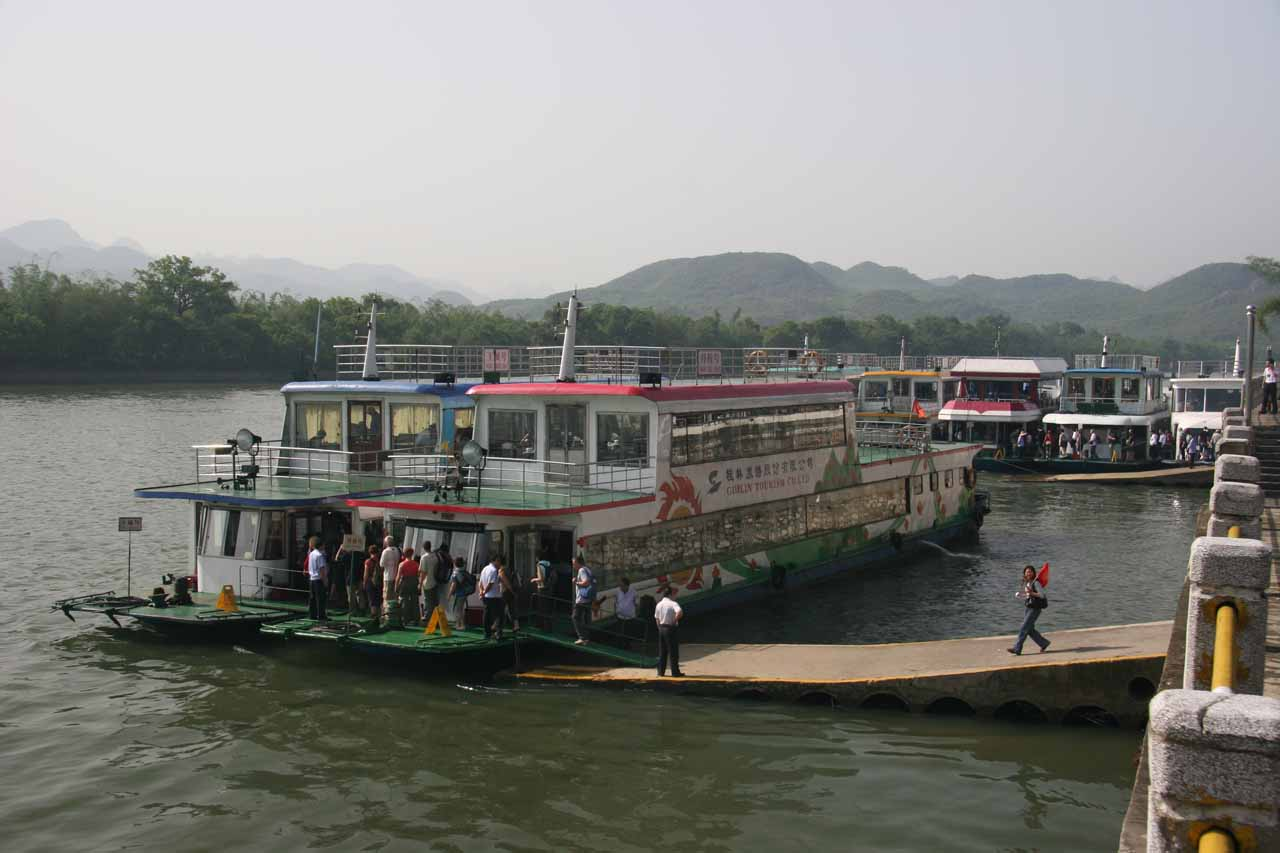 About to cruise on the Li River