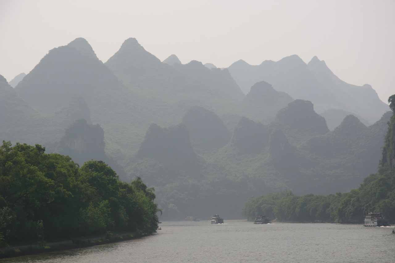 Although it wasn't the case with our Lijiang River Cruise between Guilin and Yangshuo, some of those tours stop at the Crown Cave