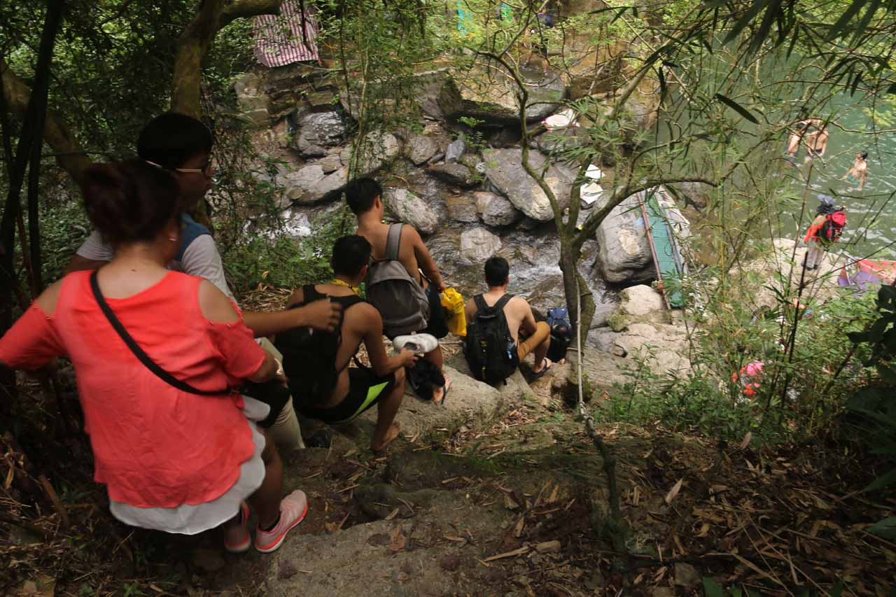 This was where the descent to the second Liangshan Waterfall really got steep