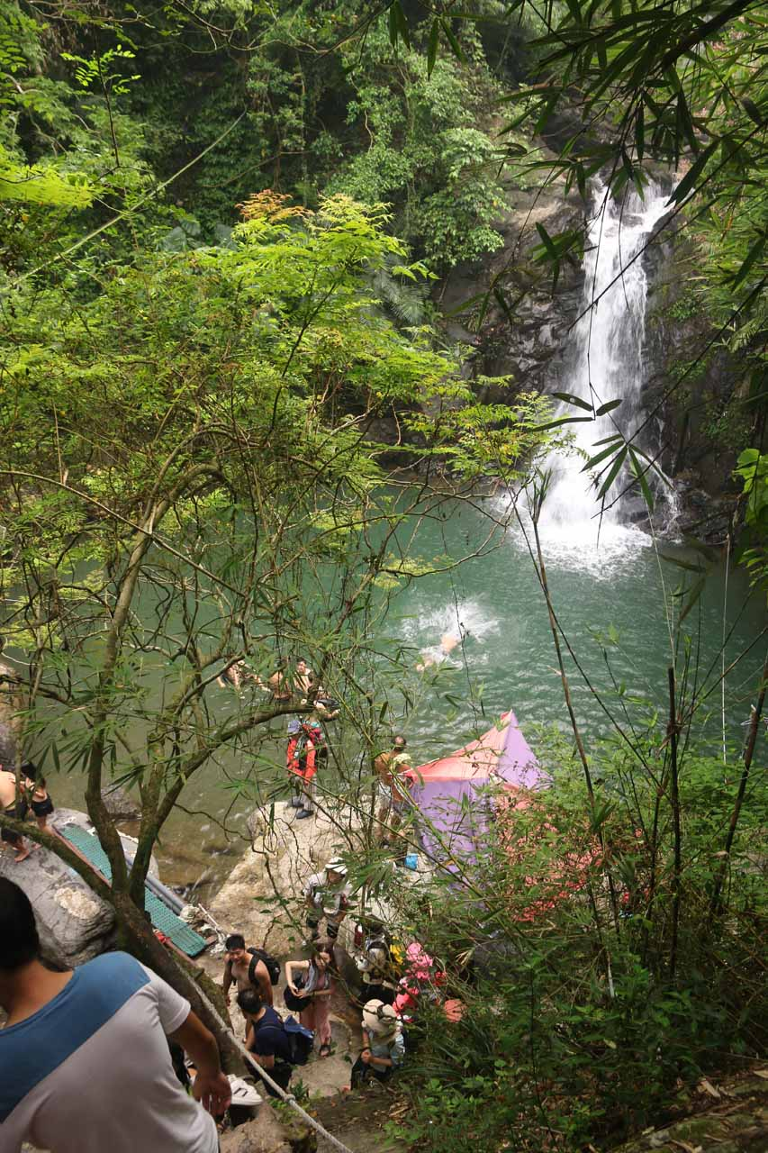 Context of the second Liangshan Waterfall and the steep descent