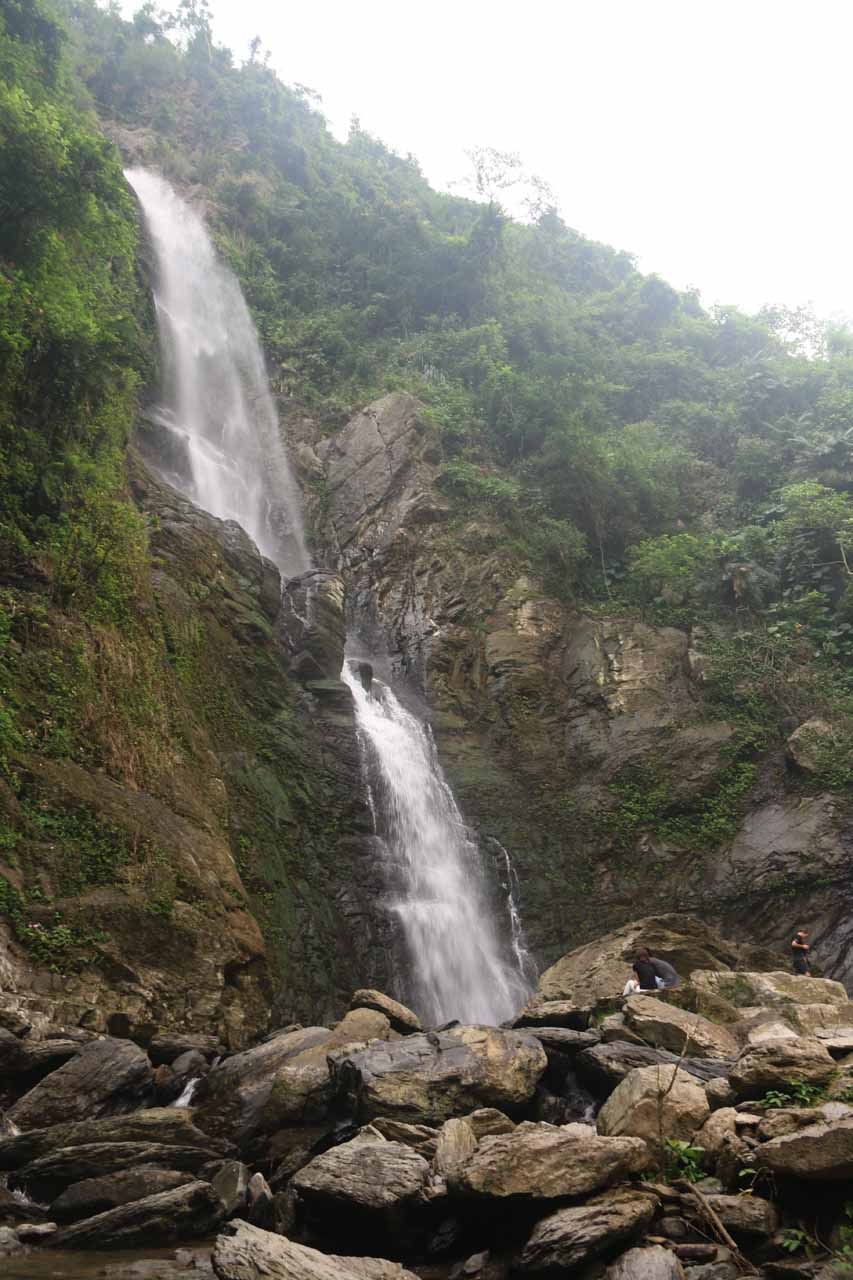 First look at the uppermost or third Liangshan Waterfall